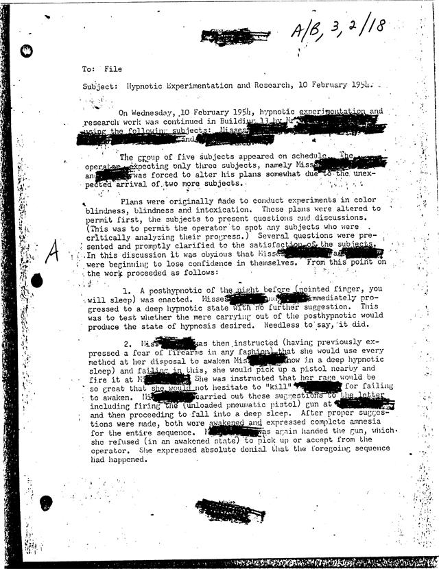CIA Programmed Assassins in Mind Control